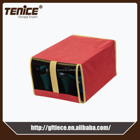 Tenice cardboard cosmetic foldable storage box with open front