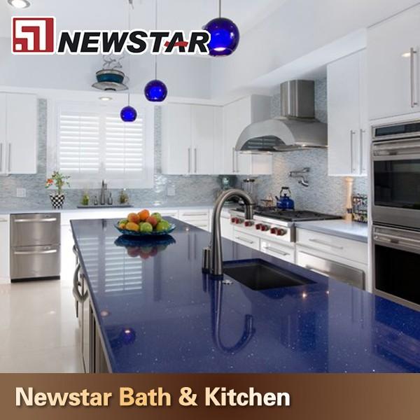 cuisine design bleu fonc comptoirs de quartz pierre artificielle id du produit 1879979126. Black Bedroom Furniture Sets. Home Design Ideas