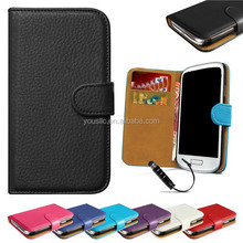 Luxury Wallet Genuine Real Flip Wallet Leather Case For Samaung Galaxy S4 I9500
