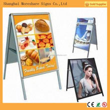 double side aluminium poster frame standing for advertising campaign