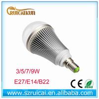 86-265v 220v Warm White Light LED Ball Bulb SMD5760 7w 9w e14 led bulb
