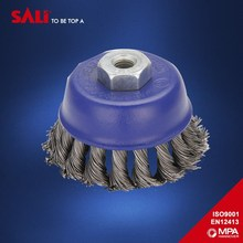 Indurstry durable wire brush for removing rust and paint , twist knot steel wire cup brush