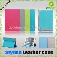 2013 factory supply, stylish custom for ipad mini leather case