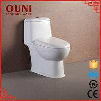 Ceramic bathroom siphonic one piece wc toilet product ON823
