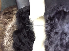 long haired sheep fur skin Toscana goat fur skin garment fur material