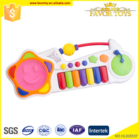 Two modes children educational PP toys musical instruments keyboard with lights flash