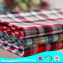 tartan nylon rayon spandex gingham fabric for bed sheet