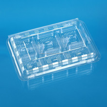 6 cells clear plastic food cake box