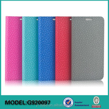 Colorful leather case for Samsung galaxy S6 , for Samsung S6 phone case