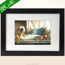 Home decorative duck and fruit rural oil painting