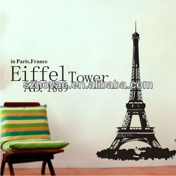 B099 Eiffel Tower Home Decoration Bedroom Decor View Home Decoration