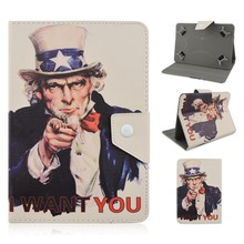 America Style Character Design PU Leather Flip Stand Universal Tablet Cases For 7/8/9/10inch Tablets PC