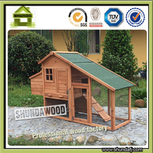 SDC03 Chinese Cheap Wooden Chicken Coop with Large Run for Laying Hens