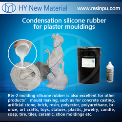 liquid silicone for plaster molding(supplied by silicone liquid industrial) with high copyflex