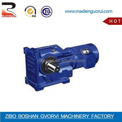 k series gearbox of helical bevel geared motor/K series gearbox with solid output shaft gear torque motor
