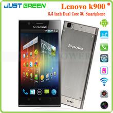 New Lenovo K900 Mobile Phone Dual Core 5.5inch Corning 2 Gorilla Android 4.2 2GB 16GB Intel Atom Z2580 mobile phone