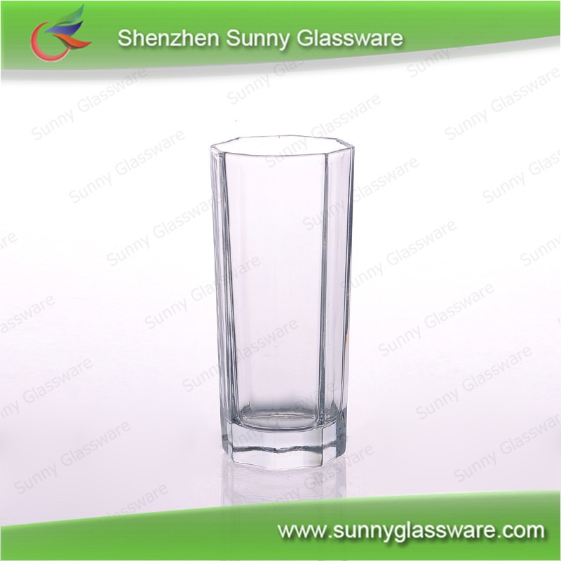Manufacturer 9.5oz hexagonal whisky glass tumbler for drinking