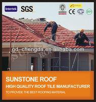 original asphalt waterproof ceramic coated roof tiles
