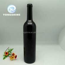 wholesale 500ml round shape olive oil glass with cork stopper