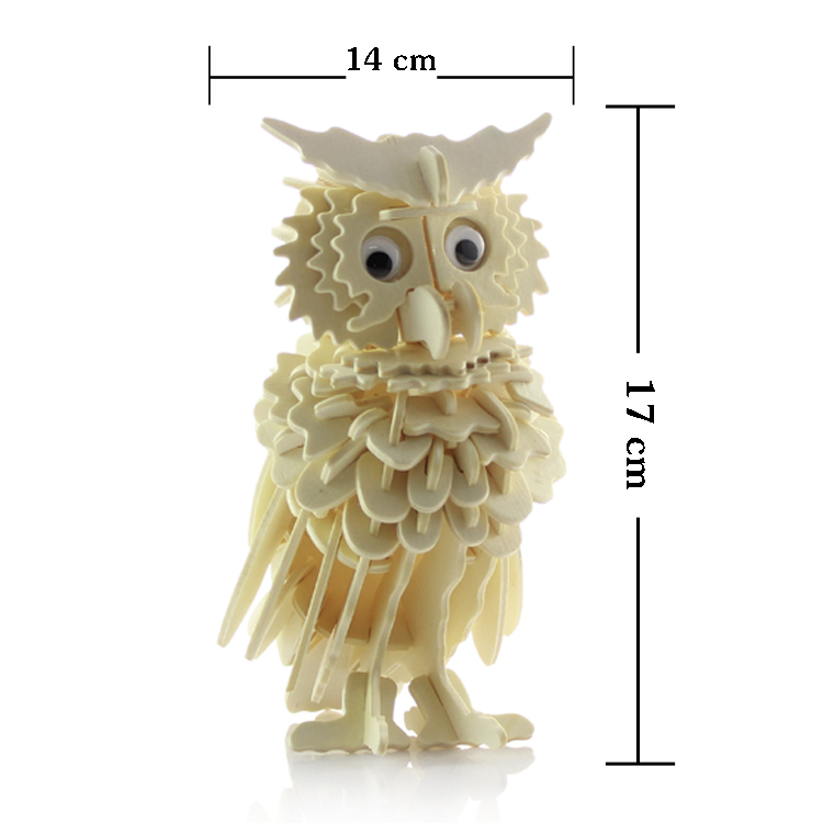 Wooden Animal Puzzle 3d Wooden Owl Toy Animal