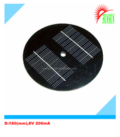 160mm Diameter PET 1.6W 8V 200mA solar panel