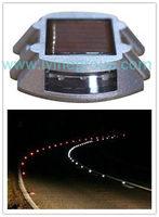 Hot sale aluminum LED solar cat eye road stud pavement flshing resist compression Solar Road Light