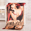 sublimation women sex with animal photo printed beach towel