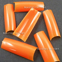 Beauties Factory 500pcs French Nail Tips (Orange)