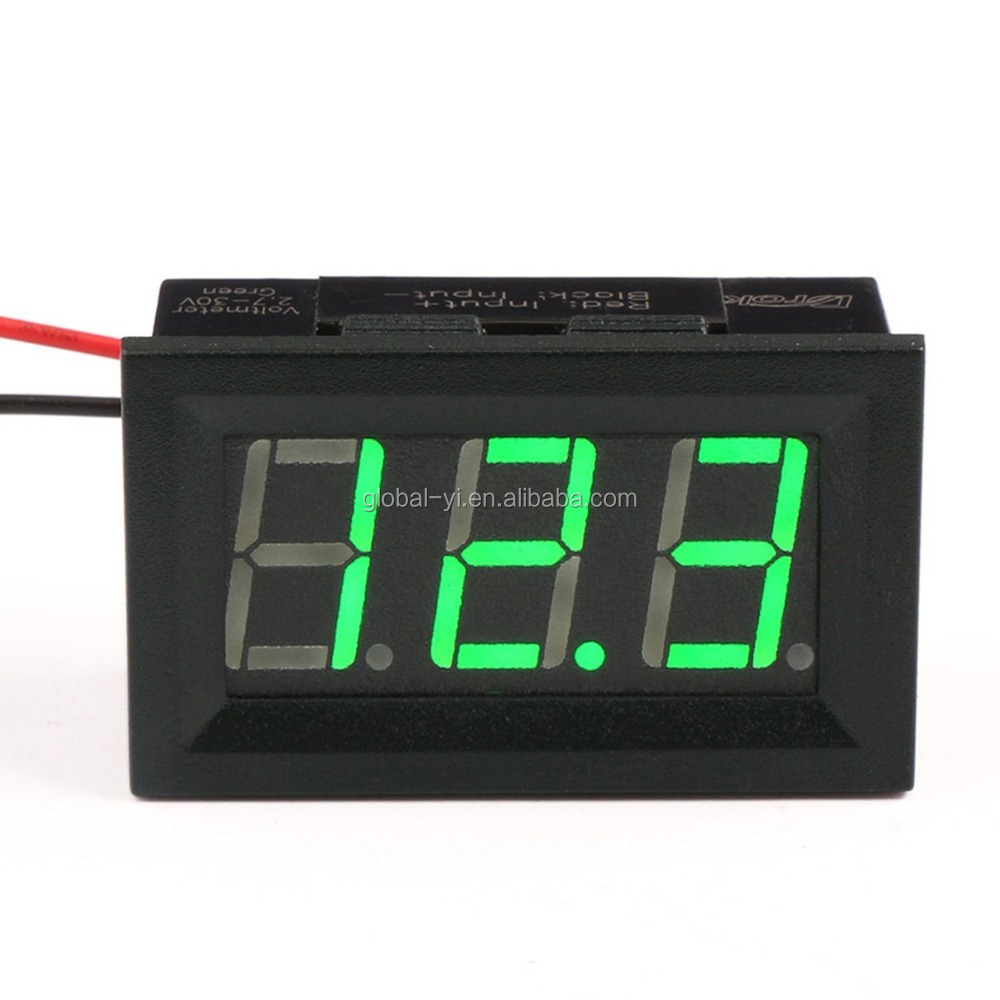 Small Digital Voltmeters Dc : V mini digital car voltmeter dc voltage