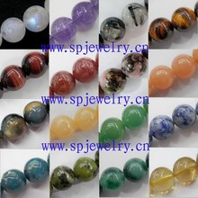 fashion stone beads, round 4-16mm, 16-inch per strand, used as necklace beads and bracelet beads