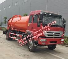 Sinotuck ouro príncipe SDRC 8000 litros para 10000 litros vácuo caminhão de sucção de esgoto vácuo caminhões-tanque para vendas