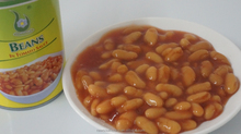 Juicy canned baked beans in tomato sauce 425g for sale, white kidney beans