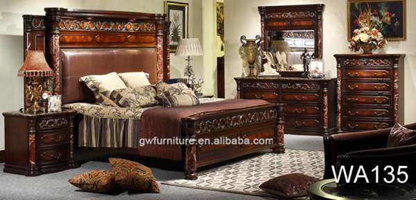 ... Royal King Size Bedroom Sets,. Wooden Bedroom Furniture Set WA135.  Furniture Pictures. WA135