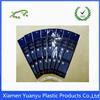 Transparent or custom printed OPP resealable plastic packaging bags.