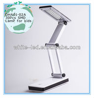 Folding Desk Lamp for Student with SAA adapter; LED Lamp for Kids