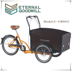 24 inch 3 wheels 7 inter speeds cargo bike/bicycle UB 9031