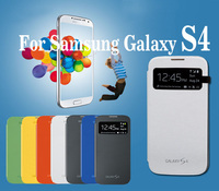 Leather pu housing back case for samsung galaxy S4 original Flip capa para fundas for Galaxy s4 S4