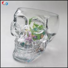 2015 Lastest Large Creative Design Skull Head Fish Farming Tank Glass Fish Bowl,Aquarium Clear Fish Tank,Decorative Glass