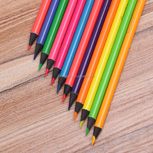 Black wood Fluorescent Color pencils with fluorescent painting