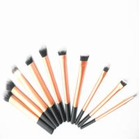 Sedona luxury 10 pieces/set super soft hair Golded makeup brush kit for make up,Eye Face Cosmetic brush kit made by Sedona shop