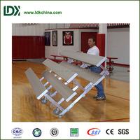 Hottest environment HDPE bench seat anodized aluminum light weight rolling bleachers
