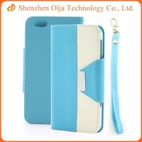 4.5 inch 2 in 1 book style PU leather cover for iphone 5s