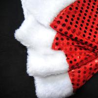 Sales Adult Moon Stars Plush Red Santa Hat Warm Winter Christmas Xmas Gift Cap
