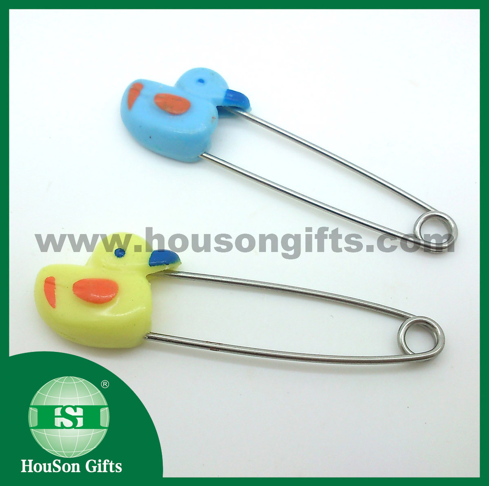 2016 cute safety pins baby safety pins duck safety pin for kids