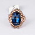 nuevo anillo de la moda de los diseños para las mujeres anillo de piedra azul r3679