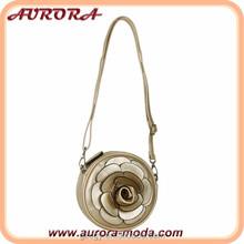 Flower PU leather messenger bag women