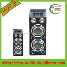 Professional dual 10/12 inches subwoofer speaker 2.0 professional Active ibastek speaker Gem-624