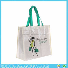 Waterproof big beach bag laminated for promotion