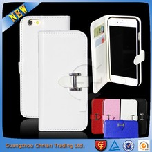 For iPhone 6 leather case cover with credit card slot and stand