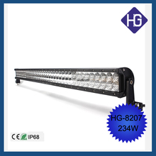 motorcycle accessory made in china 234W driving lights LED jeep car light led light bar 4x4